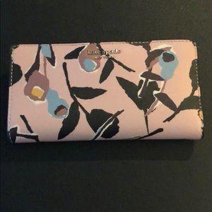 Kate Spade Large Cameron Paper Rose Pink Wallet
